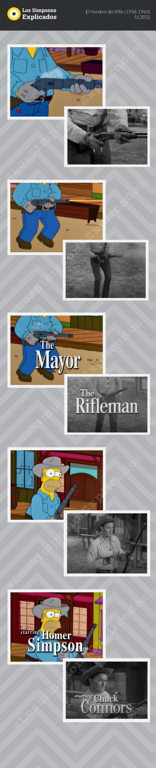 el hombre del rifle los simpsons explicados