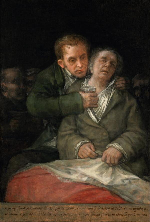 goya atendido por el doctor arrieta enfermo