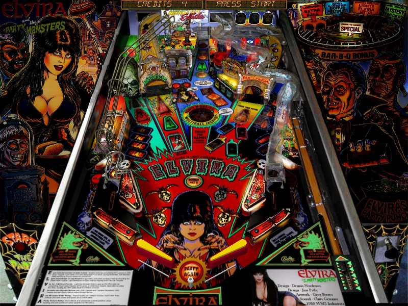 elvira party monsters pinball machine
