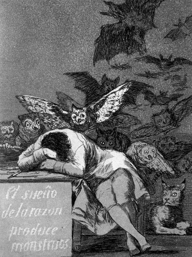el sueño de la razon produce monstruos goya caprichos
