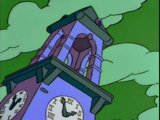 torre vértigo versión simpson homenaje