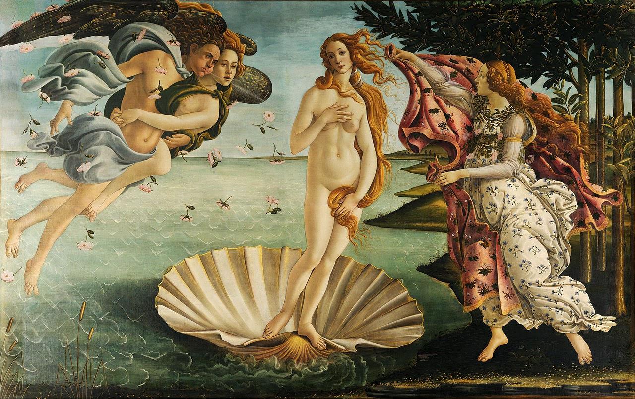 El Nacimiento de Venus, el cuadro de Botticelli en que Homero imagina a Margo