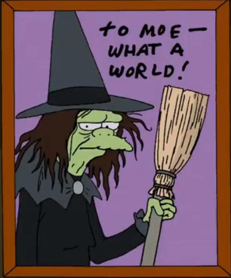 to moe what a world wizard of oz mago de oz los simpsons