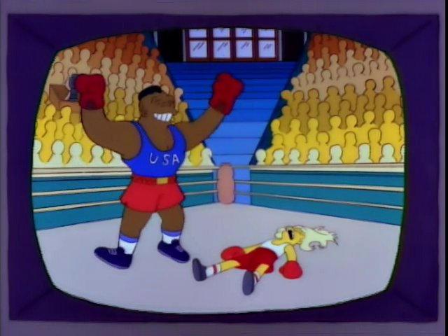 boxeo juegos olímpicos simpsons