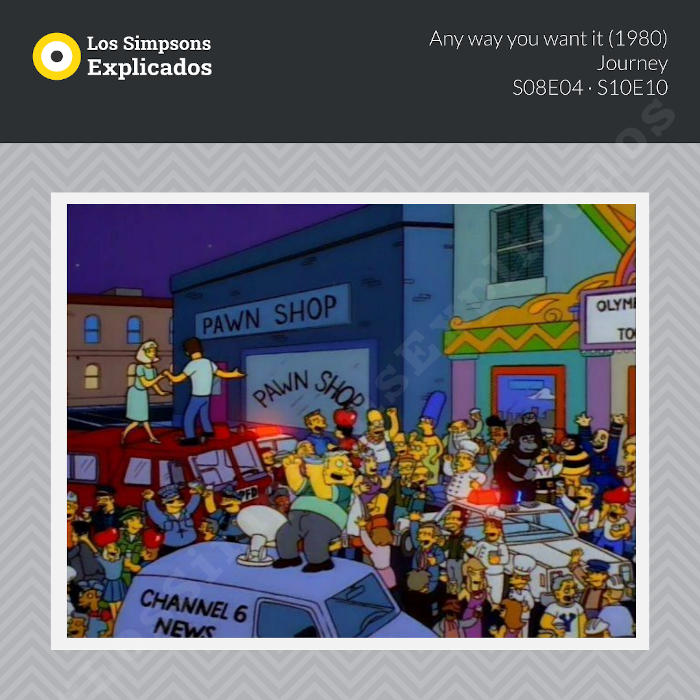 any way you want it journey los simpsons explicados