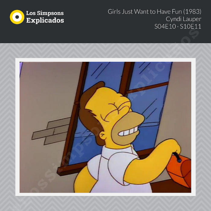 girls just want to have fun cyndi lauper los simpsons explicados