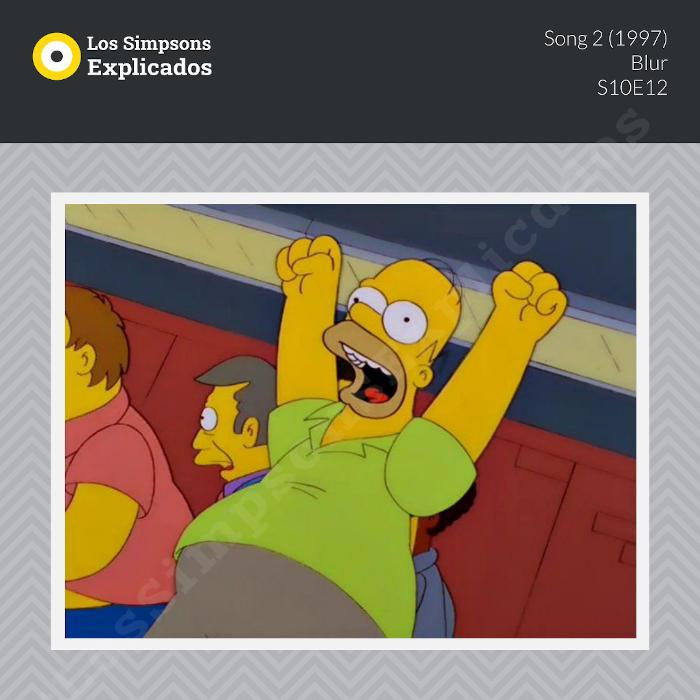 song 2 blur los simpsons explicados