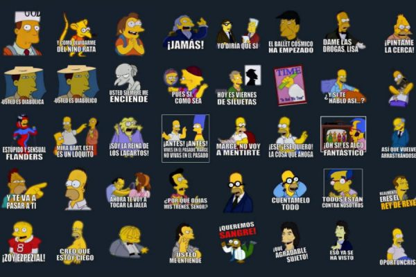 stickers de los simpsons para telegram