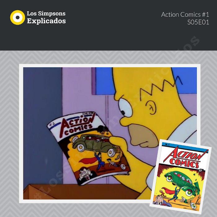 homero action comics #1 los simpsons explicados