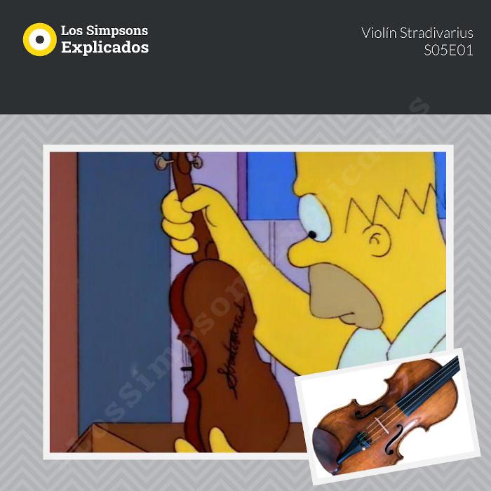 homero violín stradivarius los simpsons explicados