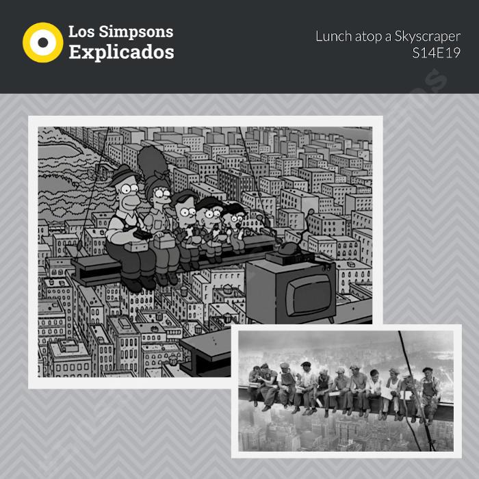 los simpsons obreros en una viga los simpsons explicados