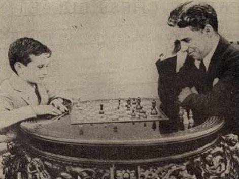 Samuel Reshevsky y Charles Chaplin