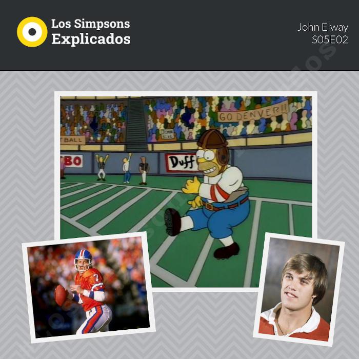 John Elway - Los Simpsons Explicados